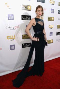 Jennifer Lawrence's red carpet dress.