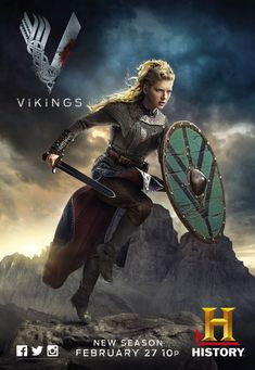 """""""Vikings"""" tells the story of legendary warrior Ragnar Lothbrok and the people who surrounded him. The Carroll News spoke with Katheryn Winnick, who plays Ragnar's wife, Lagertha, and . Ragnar Lothbrok, Vikings Lagertha, Floki, Vikings Tv Show, Vikings Tv Series, Viking Shield Maiden, Viking Warrior, Viking Queen, Katheryn Winnick"""