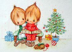 Vintage 70s Betsey Clark Hallmark Christmas Card by Sillyshopping