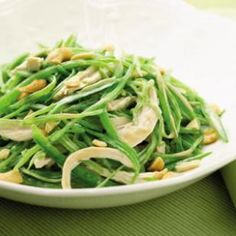Warm Snow Pea & Chicken Salad- substitute the soy sauce