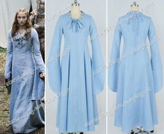 Game Of Thrones Cosplay Sansa Stark Alayne Stone Costume Blue Party Dress New #Dress