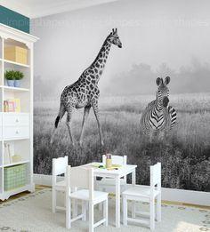 Safari Print African Safari Extra Large Wall Art by AccentuWall
