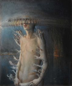 'Flouresching man' - Italian Artist, Agostino Arrivabene was born in 1967, lives and works in Gradella di Pandino (CR) Italy. *works exhibited at the exhibition 'Plutonic Hysteria', Jannone Gallery, March 2011, Milan.