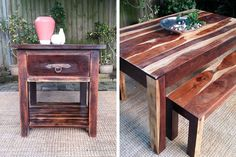 Upcycled secondhand timber furniture, New Leaf Upcycled