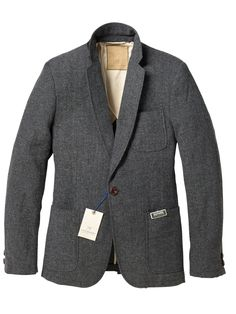 crinkled wool blazer.
