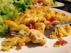 Delicious chicken pasta dish, THM Trim Healthy Mama delight