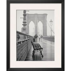 Lonely Bench Framed Print  at Joss and Main