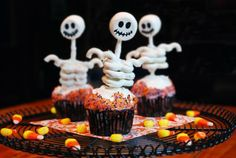 Scary ghost halloween muffins pastry
