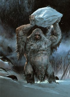 Frost Giants: If you hang out in Niflheim for a while, you'll find these guys there. Or they'll find you.