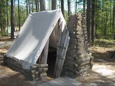 civil war tents | Tent in Confederate Winter Camp Photo, Click for full size