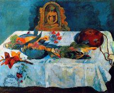 Paul Gauguin - Post Impressionism - Tahiti - Nature morte aux oiseaux exotiques- 1901
