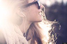 Feels happy when listen to music.