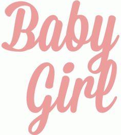Silhouette Design Store - View Design #44057: baby girl script