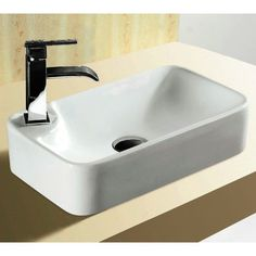 Ceramica Rectangular Ceramic Vessel Bathroom Sink
