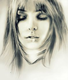 Model's Face Sketch by - Dahyun on deviantART - Incredible!