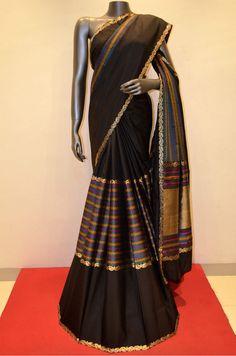 Black Designer Soft Silk Saree