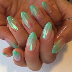Mermaid French by @sohotrightnail