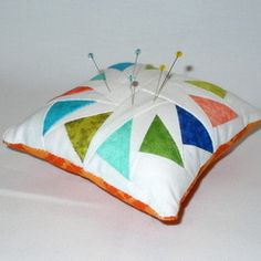 Threadbias: Pincushion! :-) by Sewneatbycaryn. I think this is mine!
