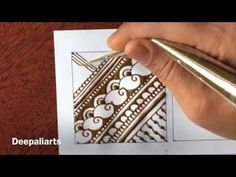 Tutorial - filler elements for intricate mehndi design