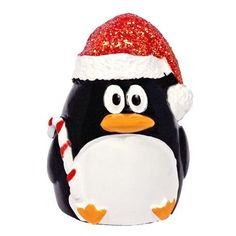 Our very cute and colorful two inch tall Santa penguin lip gloss makes for a great stocking stuffer or fun gift to keep lips looking cool and feeling moist. The lip gloss is vanilla flavored.