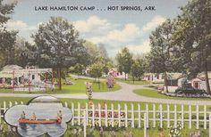 Lake Hamilton Camp, Hot Springs Arkansas vintage trailer camping