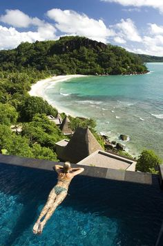Maia Luxury Resort and Spa, Seychelles. This is number 5 of 36 luxury resorts and spas you need to visit. Who wouldn't love this amazing view while traveling in luxury.