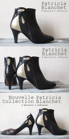 Patricia Blanchet bottines Mulolan retro #patriciablanchet #bottines #lowboots #chaussures #shoes #itshoes #noir #escarpins #pumps #cuir #leather #mordoré #retro #fashion #ss15