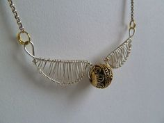 DIY Golden Snitch Necklace - Instructable by emilyvanleemput