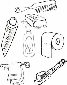 Partsof the house Senses Activities, Health Activities, Body Preschool, Preschool Activities, Personal Hygiene, Kindergarten Worksheets, Dental Health, Kids Education, Life Skills