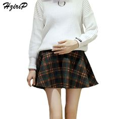 1fa580331c3c4 HziriP Maternity Care Belly A Line Skirts New 2017 Fashion Autumn Winter  Woolen Plaid Pregnant Women Short Skirt Plus Size-in Skirts from Mother &  Kids on ...