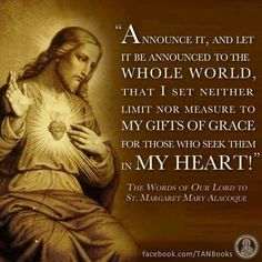 The Words of Our Lord to St. Magaret Mary Alacoque