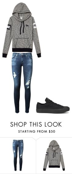 """Untitled #2"" by akosheba ❤ liked on Polyvore featuring AG Adriano Goldschmied and Converse"