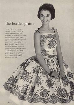 1961 blooming in fashion 2 by Millie Motts, via Flickr