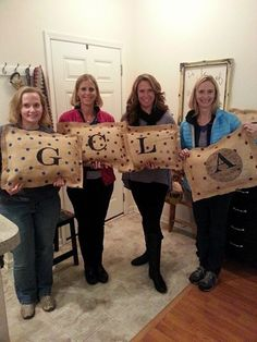 Sit a Spell with me Burlap Pillows