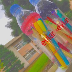 SNSで大流行してる!evianの空ペットボトルのリメイクがすごい! | CRASIA(クラシア) Plastic Bottle Crafts, Plastic Bottles, Inventions, Diy And Crafts, Recycling, Creations, Presents, Crafty, Activities