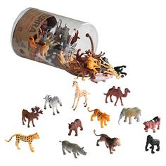 Potential cupcake topper. Must be washed. Terra Miniature Wild Animal Collection By Battat