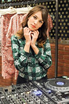 myprettylittlethings137:    FEBRUARY 5 - Alexa Chung plays DJ at a Marni fragrance launch party in New York.