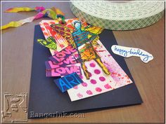 Arty Paper Doll Birthday Tags by Jill Haglund | www.rangerink.com