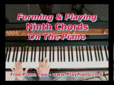 How To Form And Play Ninth Chords On The Piano