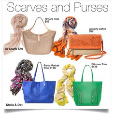 Scarves & Purses by aimee-jordan-butier on Polyvore featuring Stella & Dot, stelladot, scarf, accessories, purses and stelladotstyle
