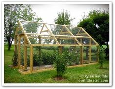 "Veggie Gardens chicken wire ""greenhouse"" to keep out birds, deer and rabbits Projects X The Berry Barn Greenhouse Growing, Greenhouse Plans, Greenhouse Gardening, Vegetable Garden Design, Veg Garden, Veggie Gardens, Vegetable Gardening, Fruit Cage, Plant Watering System"