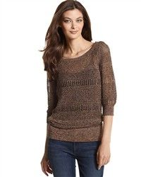 3c369b8a8a1f Copper Knit Crochet Sweater - Burlington Coat Factory - 13 Dollars Moda  Femenina