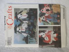 Simplicity 7864 Crafts Stuffed Dalmatian and Clothes Vintage 1992 Uncut - pinned by pin4etsy.com