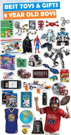 Tons of great gift ideas for 8 year old boys. ideas for boys Gifts For 8 Year Old Boys 2020 – List of Best Toys Unique Gifts For Boys, Gifts For Teen Boys, Birthday Gifts For Boys, Toys For Boys, Kids Gifts, Boy Birthday, Boy Gifts, Birthday Board, Kids Toys