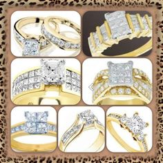#engagementrings #pretty #gold #diamonds #squarecut #musthave #want #sparkling #girlsbestfriend