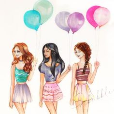 balloon best friends forever bff drawings, drawings of friends - 3 girls drawing Tumblr Drawings, Girly Drawings, Pretty Drawings, Easy Drawings, Cartoon Drawings, Beautiful Drawings, Tumblr Best Friends, Friend Tumblr, 3 Best Friends