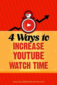 Fine-tuning the way you set up your YouTube videos will increase the number of views your channel generates and also deliver longer viewing sessions.  In this article, youll discover four ways to increase your YouTube watch time.
