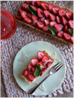 Rebarbora & jahody • food4fun • rhubarb and strawberries • It was good, but the rhubarb taste was only subtle.