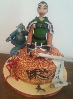 this cake was made for me. I was enjoying in creating of it, because mulan is one of my favorite movies.