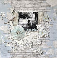 scrapbooking layout with Ingvild Bolme bird resin